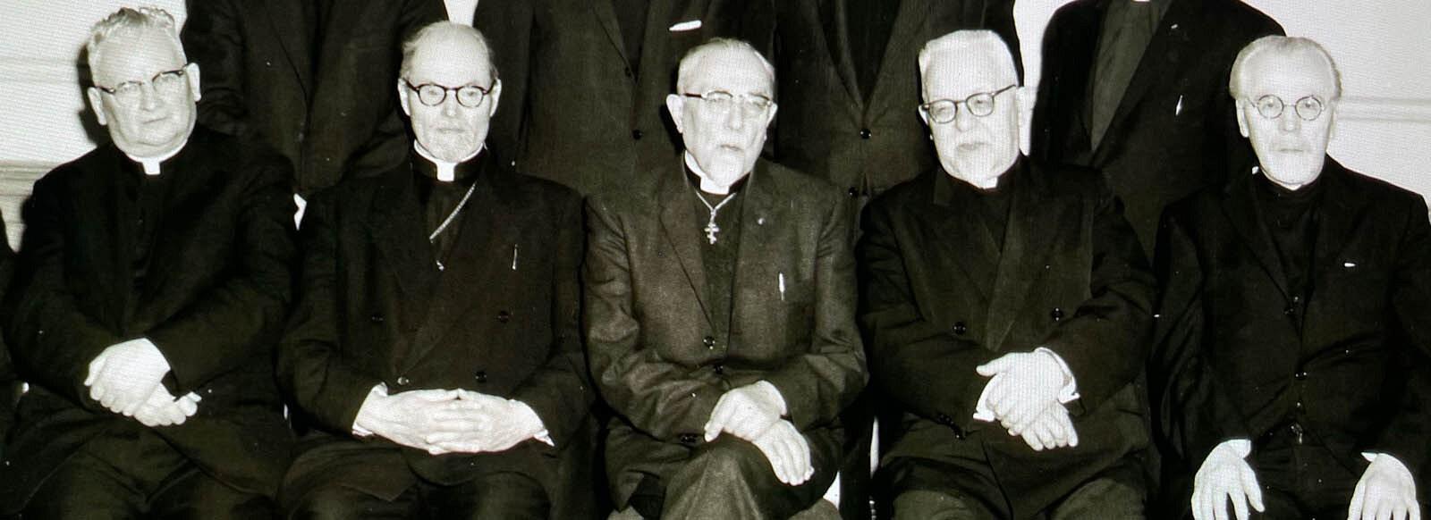 Meeting with Canadian bishops in Winnipeg, Canada 1968:Archbishop Andrew, Archbishop Michael, Metropolitan John, Metropolitan Ilarion and Archbishop Volodymyr
