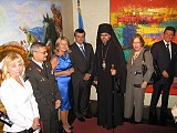 His Grace Bishop Daniel with the Permanent Representative of Ukraine to the United Nations His Excellency Yuriy Sergeyev, Council General of Ukraine in New York His Excellency Sergiy Pogoreltsev and their spouses.