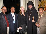 His Grace Bishop Daniel with the Representatives of the Permanent Mission of India to the United Nations.