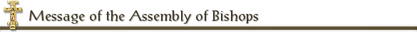 Message of the Assembly of Bishops